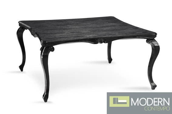 Veneto Modern Solid Wood Black Lacquered Dining Table