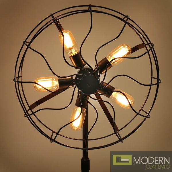 Ozzy industrial vintage fan floor lamp Modern floor fans