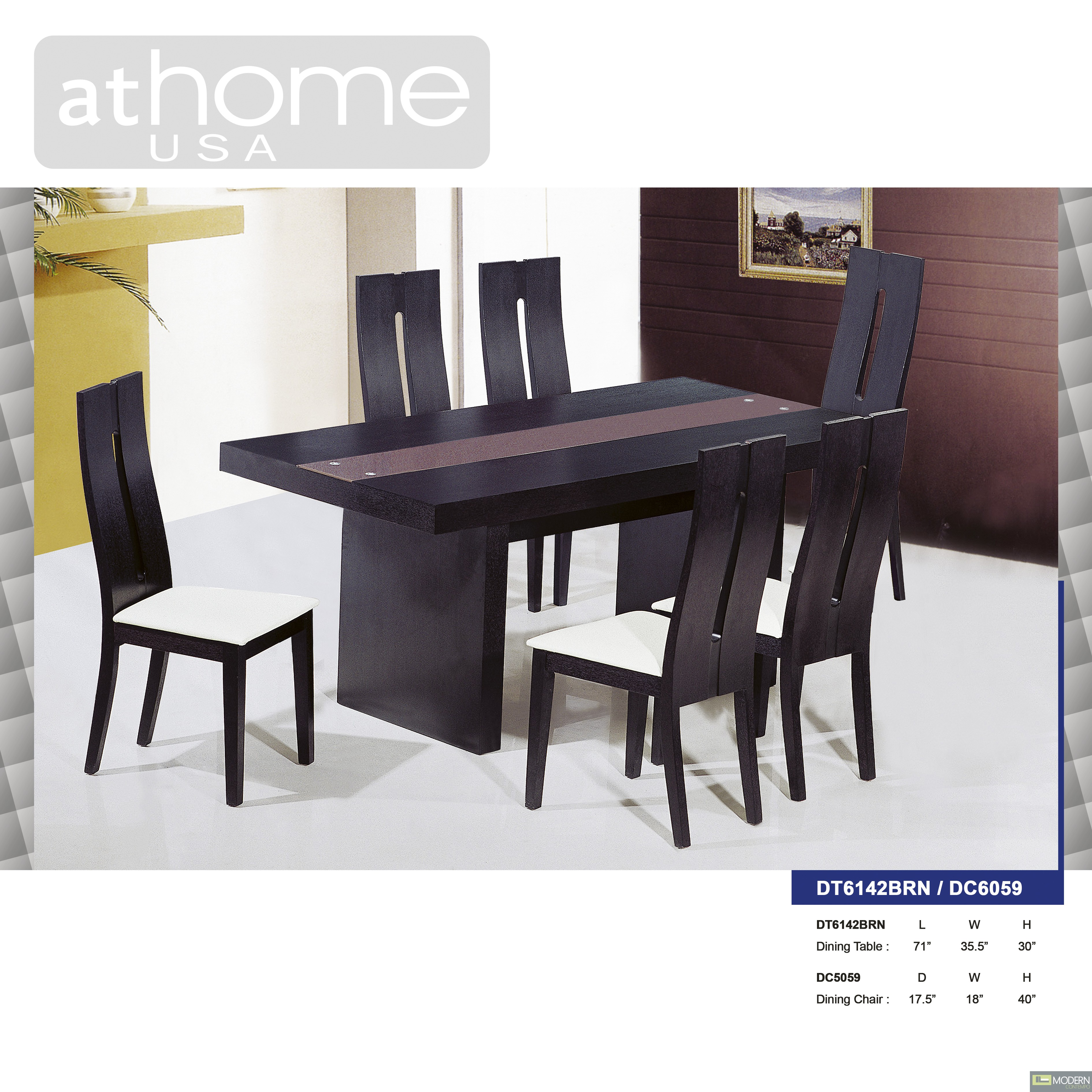 Marquesa Modern Extendable Wenge Dining Table W Chairs