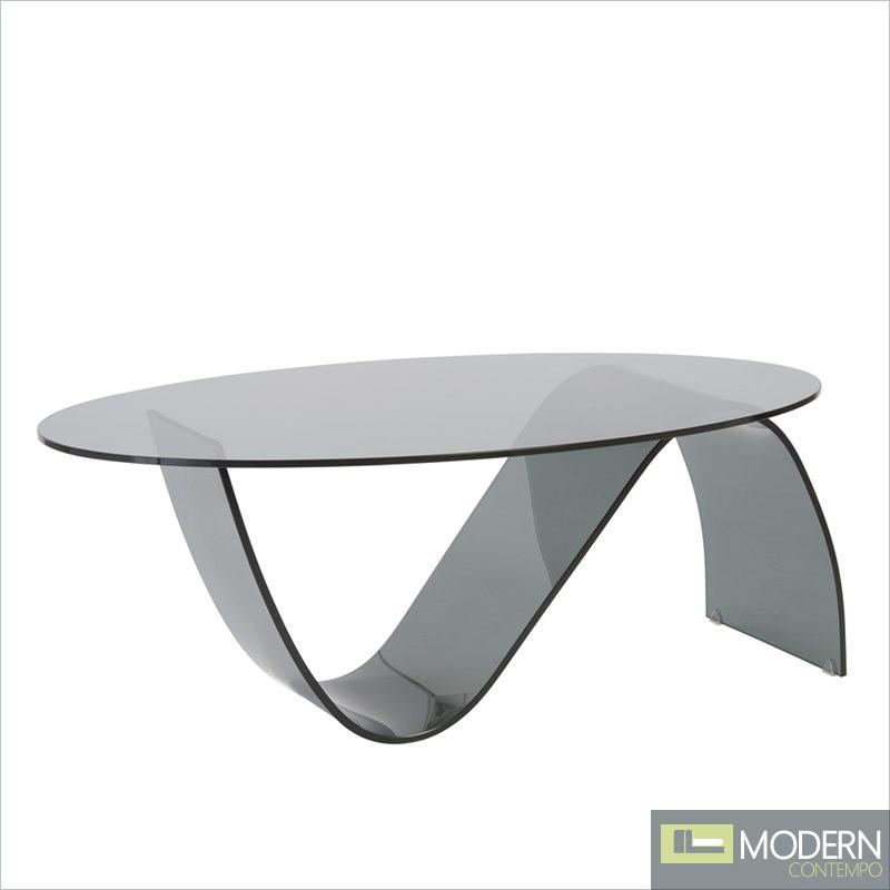 Pandora Oval Glass Coffee Table