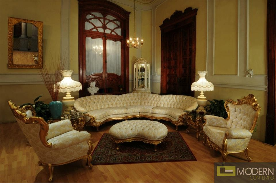 3pc high end classic provincial victorian sofa loveseat for Contemporary victorian furniture