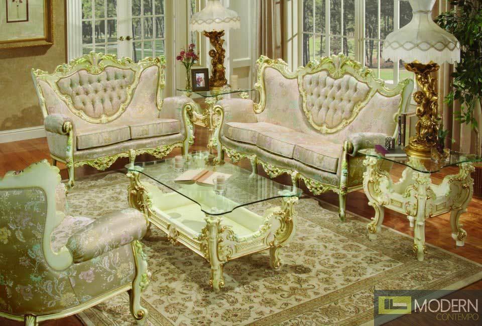3PC High end Classic Provincial Victorian Sofa Loveseat Chair ...