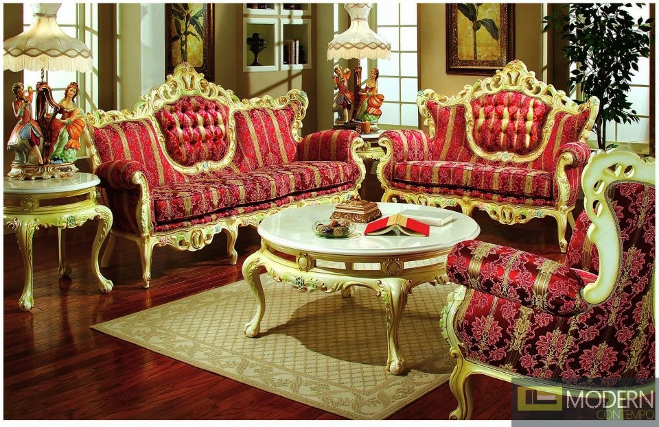 3PC High end Classic Provincial Victorian Sofa Loveseat Chair Living room  ZP609 - High End Classic Provincial Victorian Sofa Loveseat Chair Living