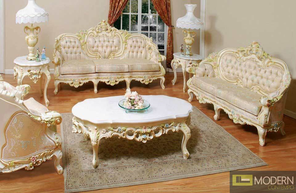 high end classic provincial victorian sofa loveseat chair living