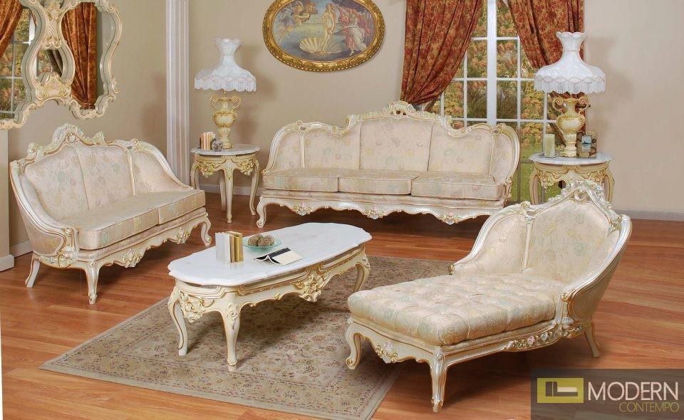 Zuritalia Ceasar Royal Luxury Italian Style Living Room Set