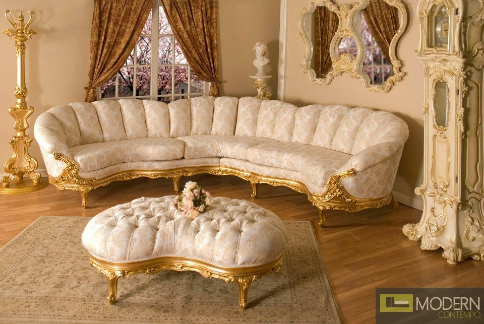 3pc high end classic provincial victorian sofa loveseat for Sectional sofa bed india