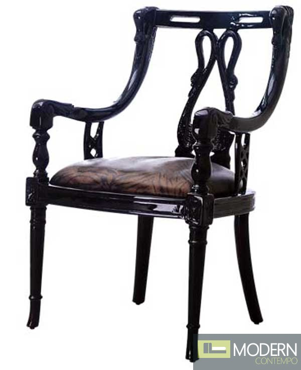 Hera Neo Classic French Accent Chair Black