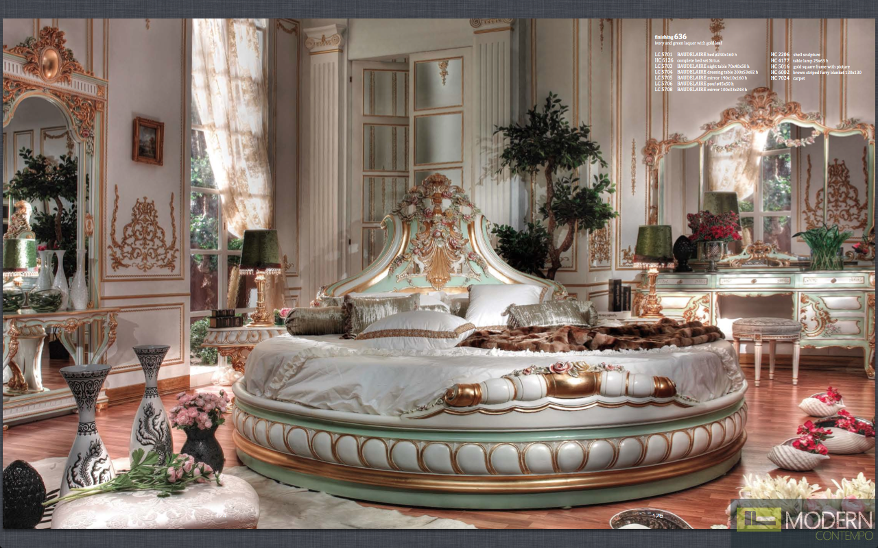 Classic italian luxury style royal baudelaire collection for Italian bedroom furniture