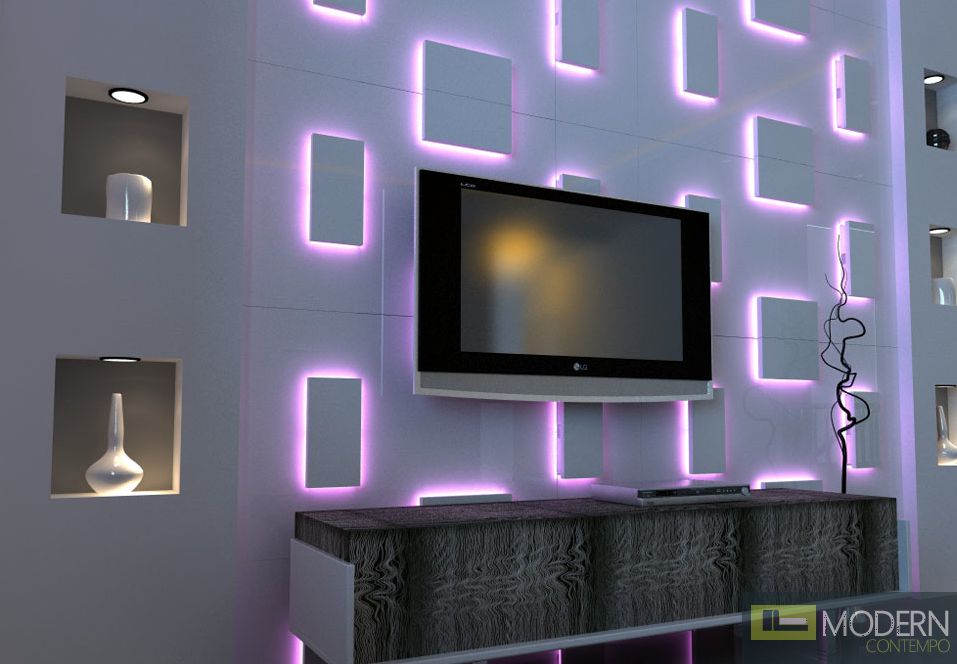 Modern Design Led Lit 3D Wall Panel 3dwalldecor