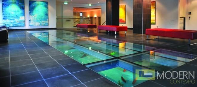 Floating bed frame for Floor aquarium