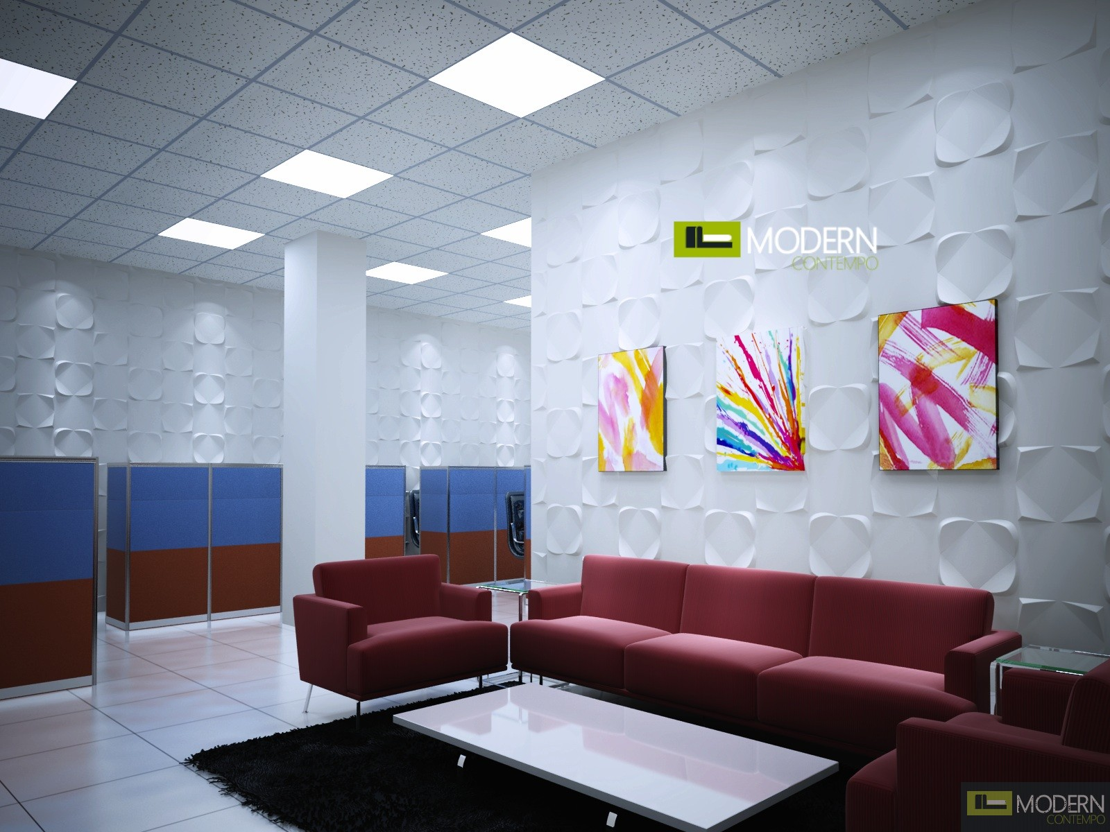 Solar exterior and interior glue on wall 3d surface for Decoration 3d sol