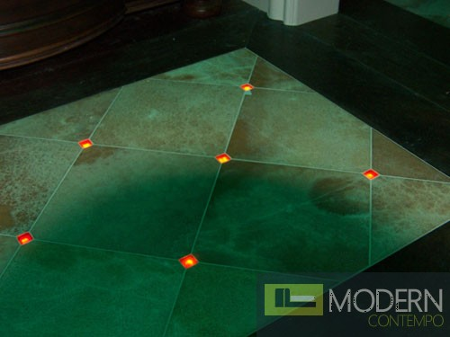 Zuritalia Lighted Floor And Wall Glass Tiles