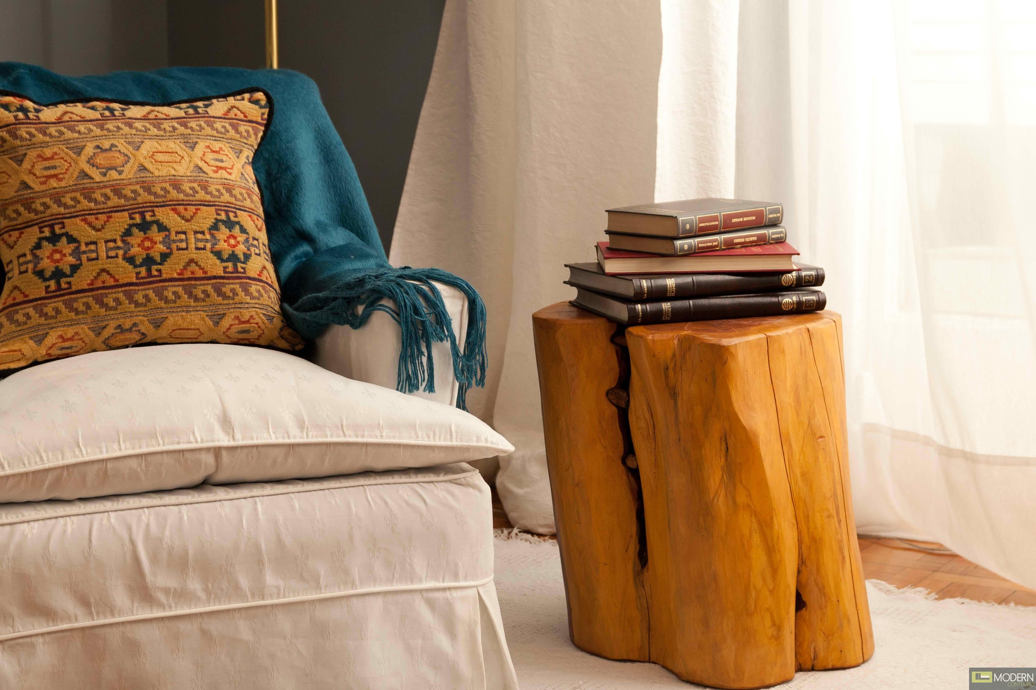 Tree stump side table -  Patagonia Rustic Tree Stump Side Tables