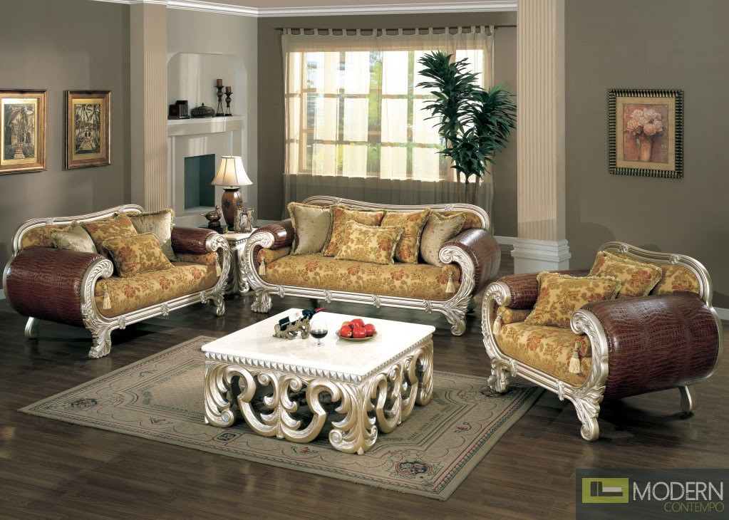 good quality high end luxurious formal living room furniture set. Black Bedroom Furniture Sets. Home Design Ideas