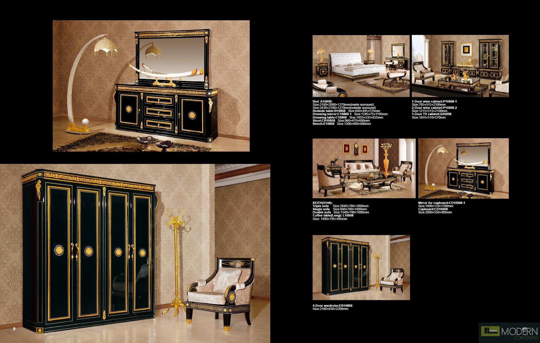 ... Zuritalia Zuriel Royal Collection Luxury Italian Style Bedroom Set ...