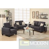 3pc Ebony Black Microfiber Sofa Loveseat and Chiar. MCGSL7911 Free 24 to 72 hours inside delivery in DMV Area