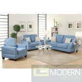 3pc Breeze Blue Microfiber Sofa Loveseat and Chiar. MCGSL7912 Free 24 to 72 hours inside delivery in DMV Area