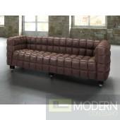 Modern Destiny Brown Leather Sofa