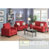 3pc Coral Red Microfiber Sofa Loveseat and Chiar. MCGSL7913 Free 24 to 72 hours inside delivery in DMV Area