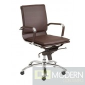 GUNAR PRO LOW BACK OFFICE CHAIR BROWN