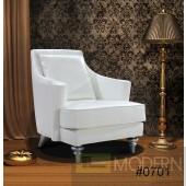 Divani Casa Tenor - White Modern Leather Lounge Chair