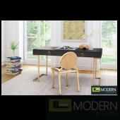 Revell Desk Black & Brass