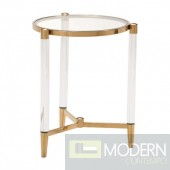 Classic Existential Side Table - Clear, Gold