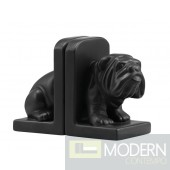 Bulldog Bookend Black