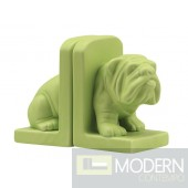 Bulldog Bookend Green