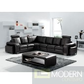 Modern Leather Sectional Sofa and Coffee table MCNV104B