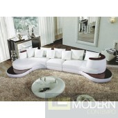 105B - Modern Bonded Leather Sectional Sofa