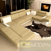 Modern Leather Sectional Sofa  MCNV106