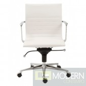 KYLER LOW BACK OFFICE CHAIR WHITE