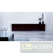 Modrest Indium - Modern Ebony Lacquer TV Entertainment Center