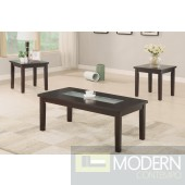 3Pc Dark Wood and Exposed Glass Coffee Table Set MCGSL3101, Free 24 to 72 hours inside delivery in DMV Area