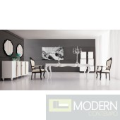 Lazio - Modern Solid Wood White Lacquered Dining Table