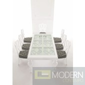 Padova - Modern Solid wood White Lacquered Dining Table