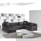 Modern Leather Sectional Sofa  MCNV203