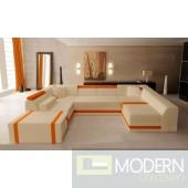 Modern Leather Sectional Sofa  MCNV208B