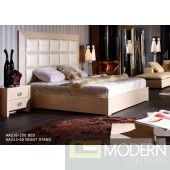 A&X Glam Modern Champagne Bed