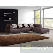 Divani Casa 2235 - Modern Bonded Leather Sectional Sofa