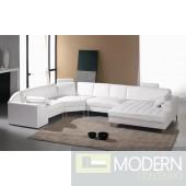 Divani Casa Monaco 2236 Modern White Leather Sectional Sofa