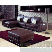 Divani Casa 2265 - Modern Bonded Leather Sectional Sofa