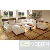 Divani Casa Costa Rico - Contemporary Leather Sectional Sofa Set