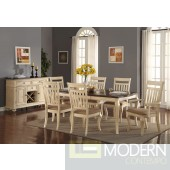5PC Traditional Beige Wood Formal dining table Set. MCGSD23434748 Free 24 to 48hrs Delivery and set up in DMV metro area.