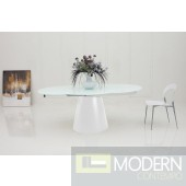 Modrest Savor Modern Round White Matt Dining Table