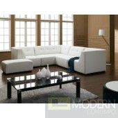 2827 - Modern Bonded Leather Sectional Sofa