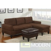Chocolate reversible sectional with chaise. MCGSL7281 Free 24 to 72 hours Inside delivery