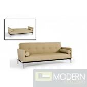 Divani Casa 3038 - Modern Beige Sofa Bed