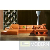 Modern Leather Sectional Sofa  MCNV309